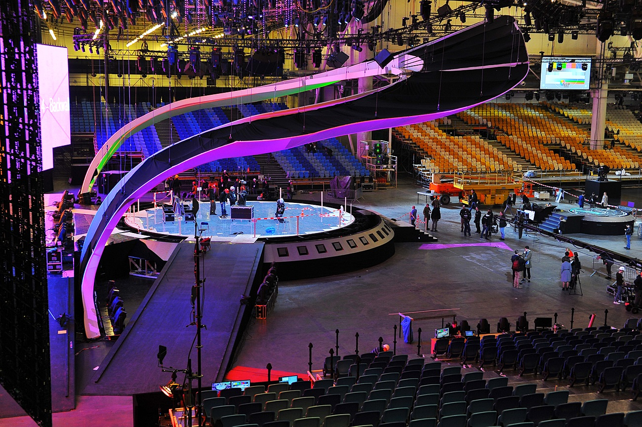 2142407da54 Technical rehearsals and rehearsals of stand-ins representing the three  competing countries will be held on the stage as early as Thursday.